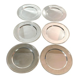 Godinger Silver Art Co. Beaded Rim Charger Plates - Set of 6 For Sale