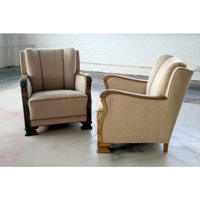 Danish 1940's Club Chairs - A Pair - Image 7 of 8