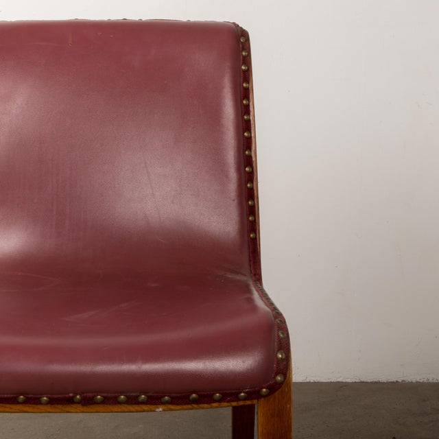 Red Bill Stephens for Knoll Bent Wood Dining Chair For Sale - Image 8 of 13