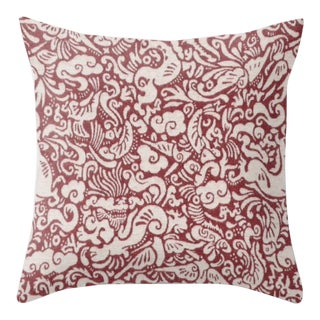 Amitan Pillow Cover in Dalai Red For Sale