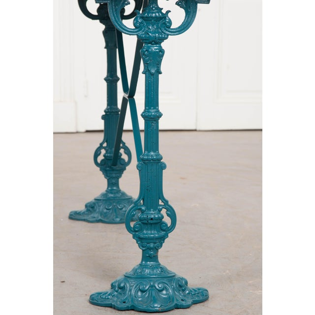 Vintage 20th Century French Iron Bistro Table For Sale In Baton Rouge - Image 6 of 8
