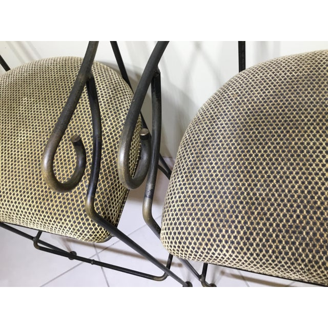 Wrought Iron Bar Stools - A Pair - Image 6 of 11