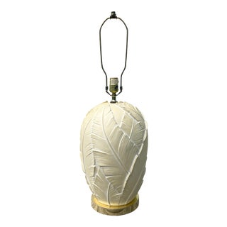 Plaster Banana Leaf Palm Lamp by Ethan Allen For Sale