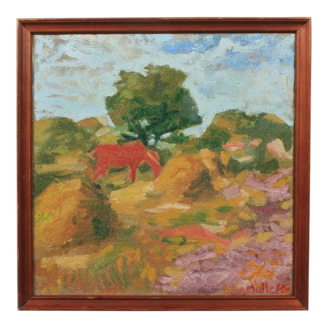 1946 Orla Muff Expressionist Pastoral Scene For Sale