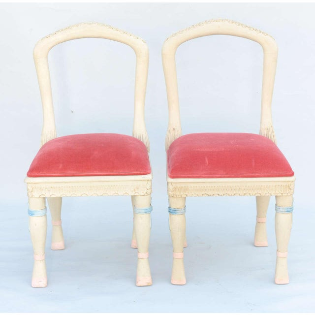 Fabric Set of Four Ballerina Side Chairs For Sale - Image 7 of 11