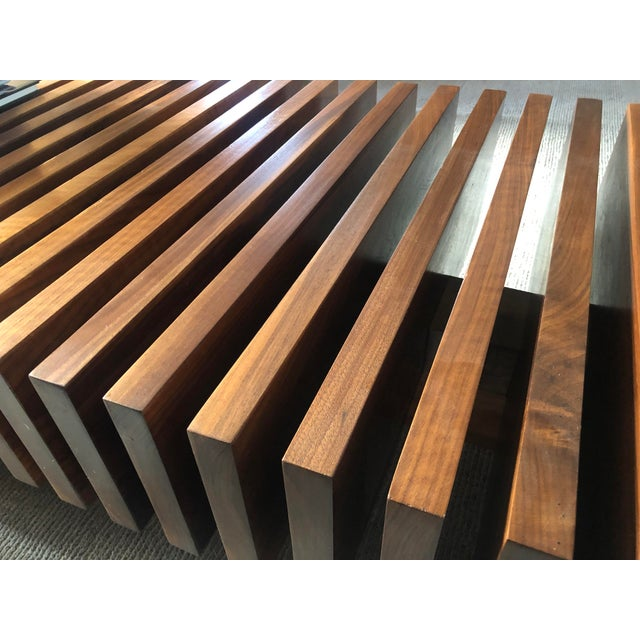 Walnut Solid Walnut Modernist Coffee Table For Sale - Image 7 of 7