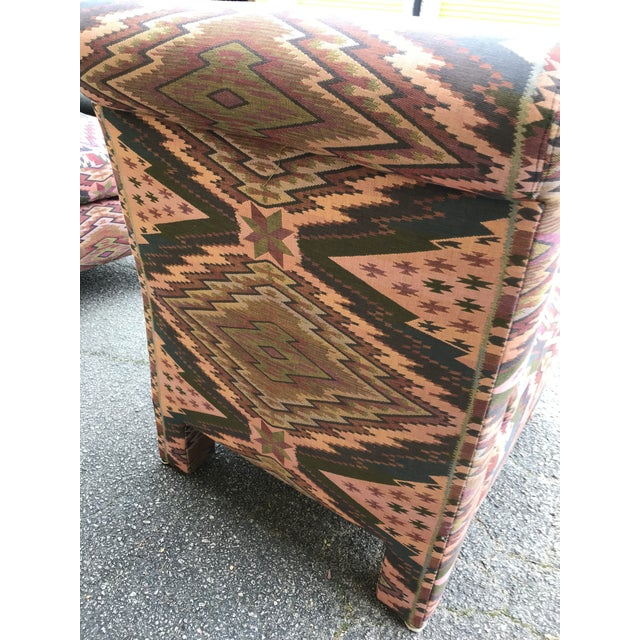 Mid Century Century Furniture Parsons Style Slipper Chairs- A Pair For Sale - Image 12 of 13