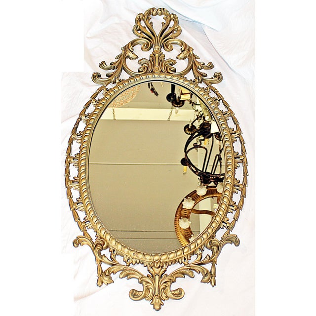 Hollywood Regency Ornate Burwood Mirror | Chairish