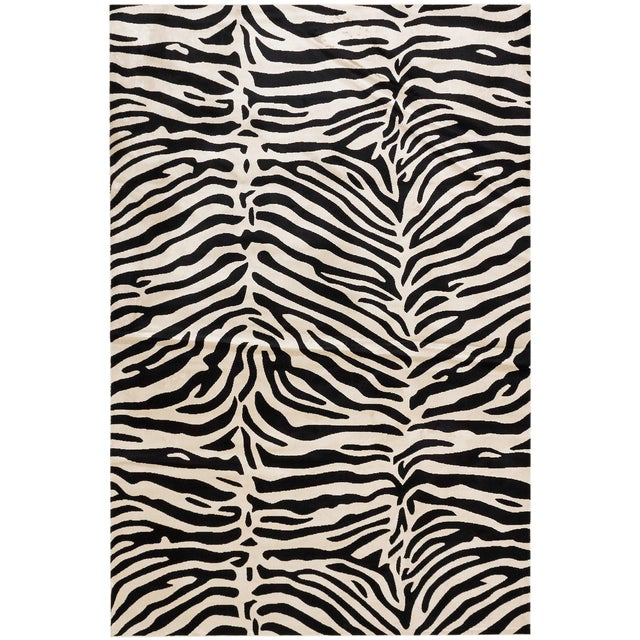 Black White Stylish Bohemian Animal Print Rug 6 X 9 Chairish