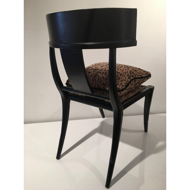 Klismos Leopard Print Accent Chair For Image 4 Of 5