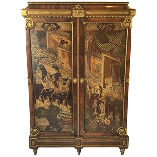 Francois Linke Louis XIV Style Kingwood and Coromandel Armoire For Sale