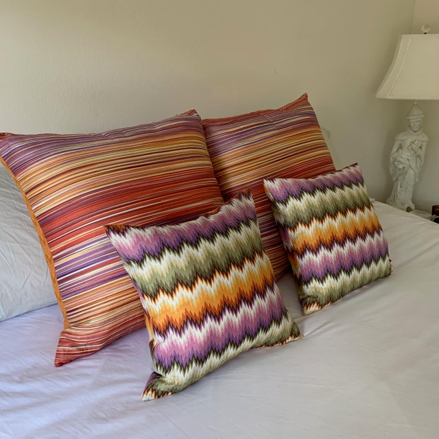 Textile Missoni Home Multicolor Zig Zag Pillows - Pair For Sale - Image 7 of 7