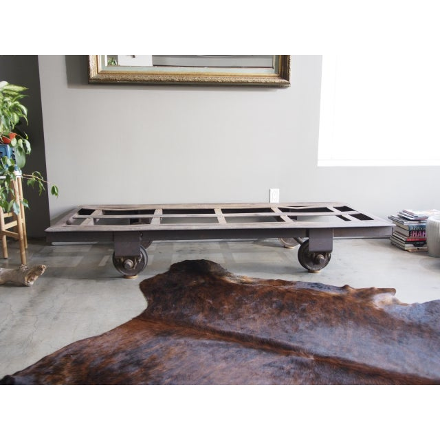 Late 20th Century Late 20th Century Vintage Railroad Cart Daybed For Sale - Image 5 of 13