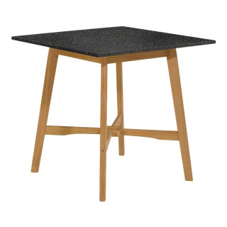 Wooden Outdoor Bar Table, Natural and Charcoal For Sale