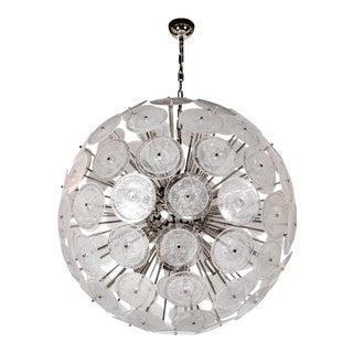 Spectacular Modernist Vistosi Disc Sputnik Chandelier For Sale