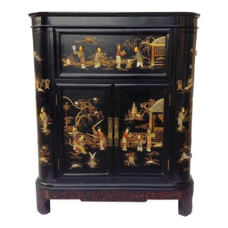 c.1950s James Mont Designed Asian-Style Dry Bar Cabinet by George Zee & Co.