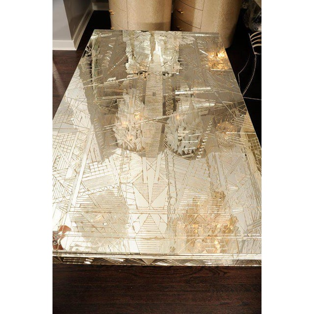 French Art Deco Style Mirrored Table For Sale In New York - Image 6 of 10