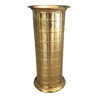 Mid Century English Brass Umbrella Stand