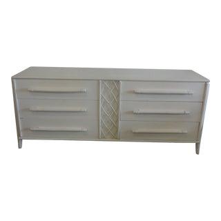 Ficks Reed 6 Drawer Rattan Dresser For Sale