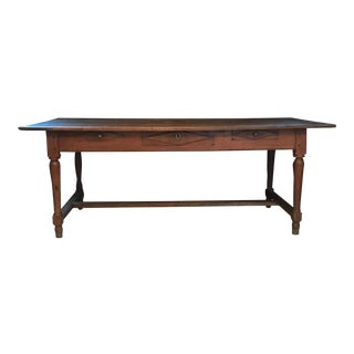 Antique French Country Oak Dining Table or Desk From Provence For Sale