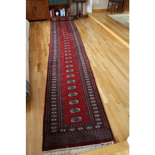 Pakistan Bokhara Hand-Knotted Runner - 2′8″ × 20′ - Image 7 of 7