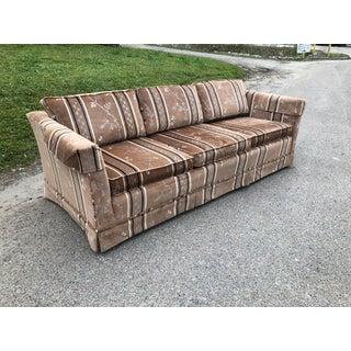 1970s Vintage Broyhill Chinoiserie Velvet Sofa Preview