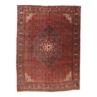 Hand Knotted Persian Bidjar Wool Rug For Sale