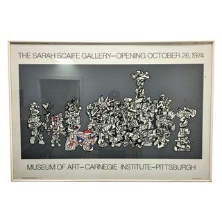 1974 Huge Sarah Scaife Gallery Poster