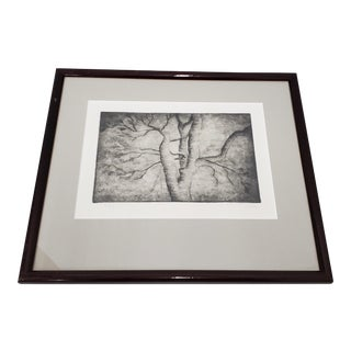 """Henry Spencer Moore (1898-1986) """"Spreading Branches"""" Original Signed Etching For Sale"""