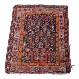 Antique Distressed Caucasian Prayer Rug Tribal 3x4 For Sale