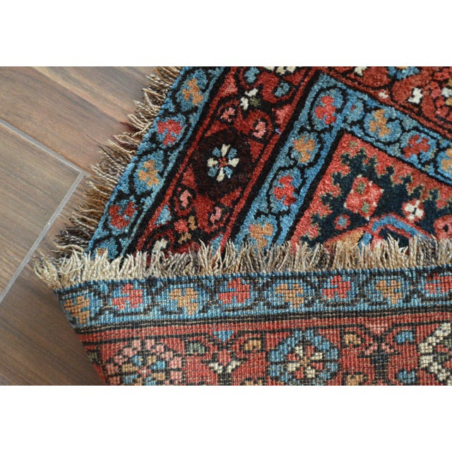 Antique Persian Heriz Karajeh Runner- 3′6″ × 8′10″ - Image 11 of 11