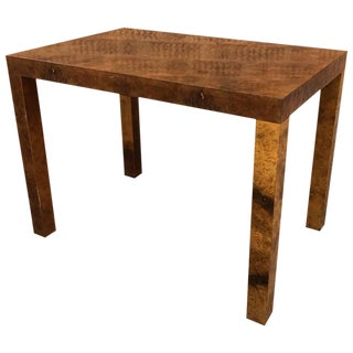 1970s Mid-Century Modern Milo Baughman for Directional Burl Olive Wood Occasional Table For Sale