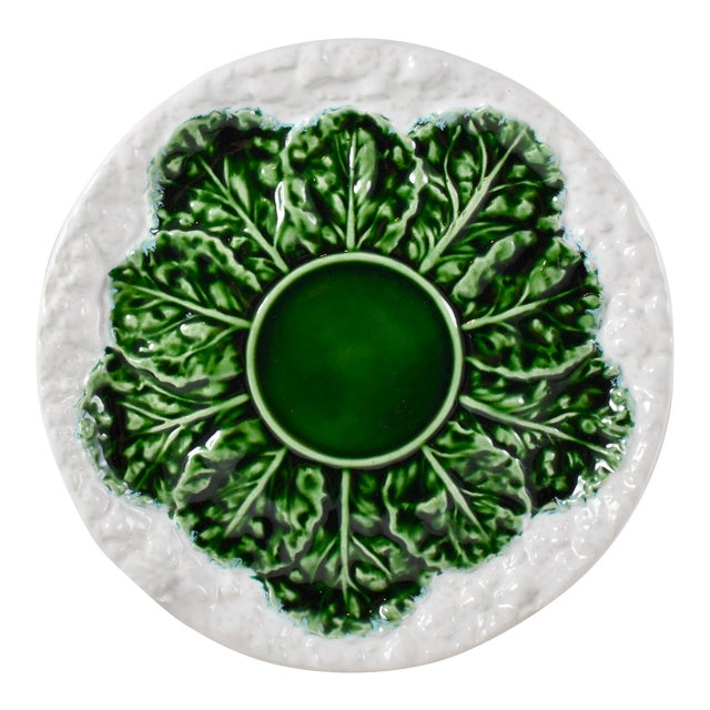 Bordallo Pinheiro C. Rainha Portuguese Cauliflower Plate For Sale