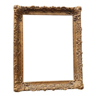 """Large 60""""Tall X 50"""" W French Provincial Ornate Gold Floral Picture Frame"""