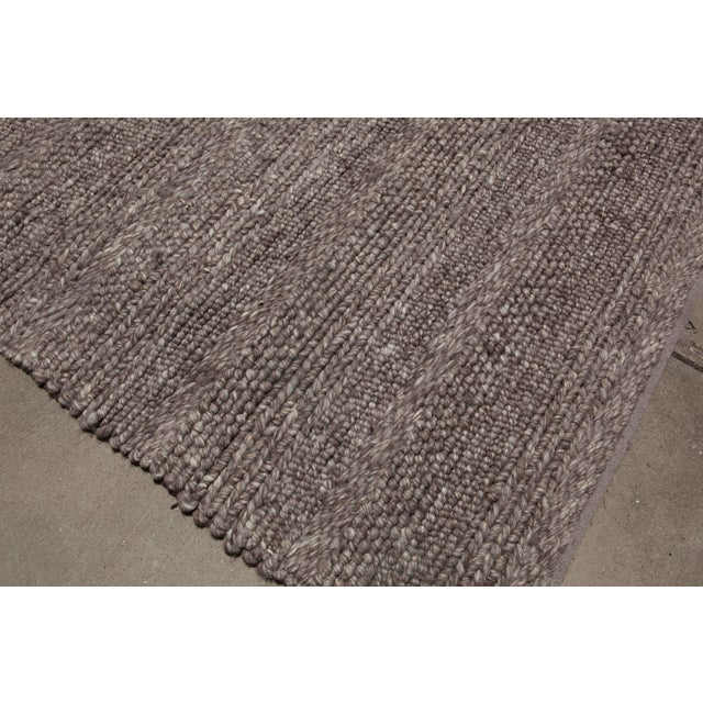 Hand Woven Brown Wool Rug - 9' x 13' - Image 6 of 6