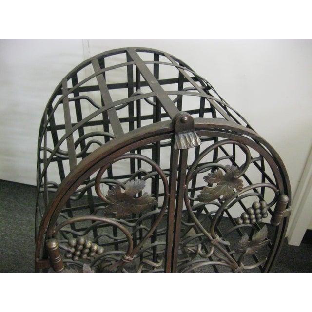 Custom Wrought Iron 24-Bottle Wine Cage - Image 4 of 10