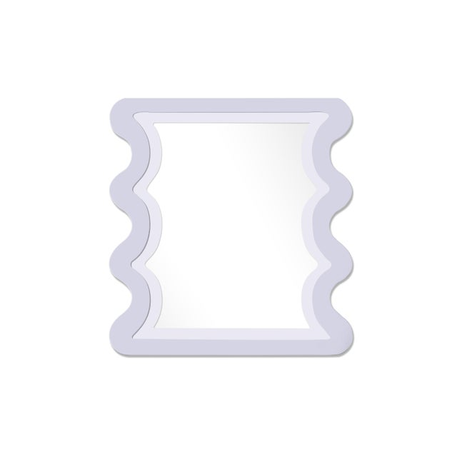 Contemporary Fleur Home x Chairish Carnival Mystic Rectangle Mirror in Spring Iris, 24x36 For Sale - Image 3 of 3