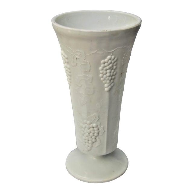 Vintage Colony Harvest Design Milk Glass Vase Chairish