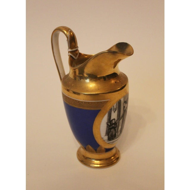 Small Cobalt Blue & Gold Directoire Pitcher For Sale In New York - Image 6 of 6