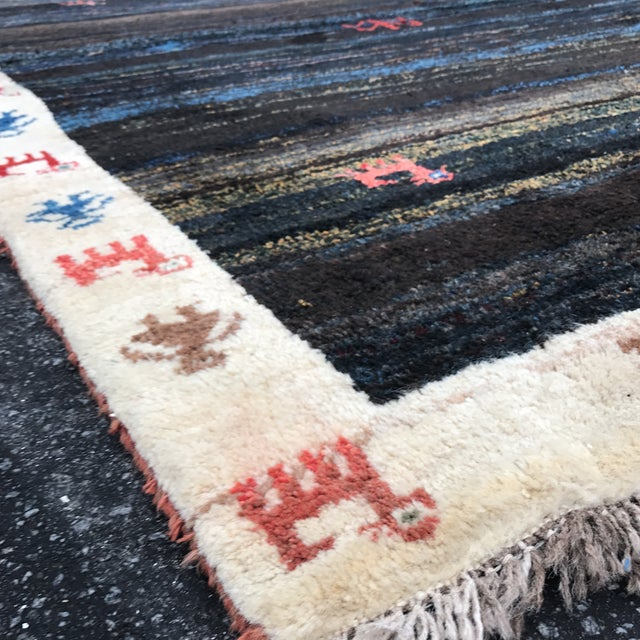 """Vintage Persian Gabe Area Rug- 6'5"""" x 4'7"""" - Image 9 of 11"""