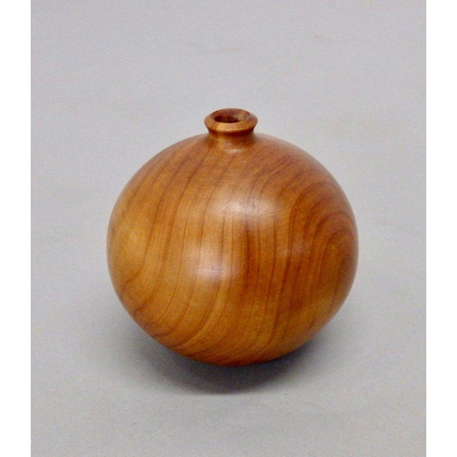 Rude Osolnik Rude Osolnik Turned Wood Cedar Weed Pot For Sale - Image 4 of 6