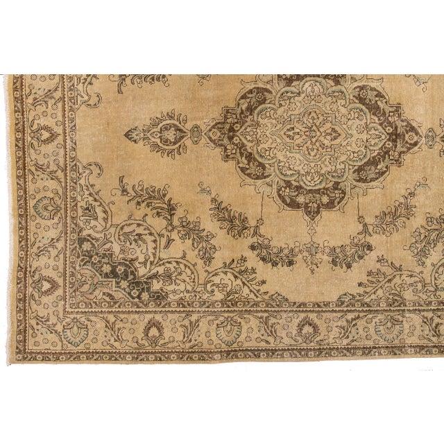 "Apadana - Vintage Persian Tabriz Rug, 9'10"" X 12'7"" For Sale In New York - Image 6 of 7"