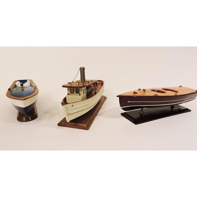 Blue Wooden Model Pleasure Boat For Sale In San Francisco - Image 6 of 7