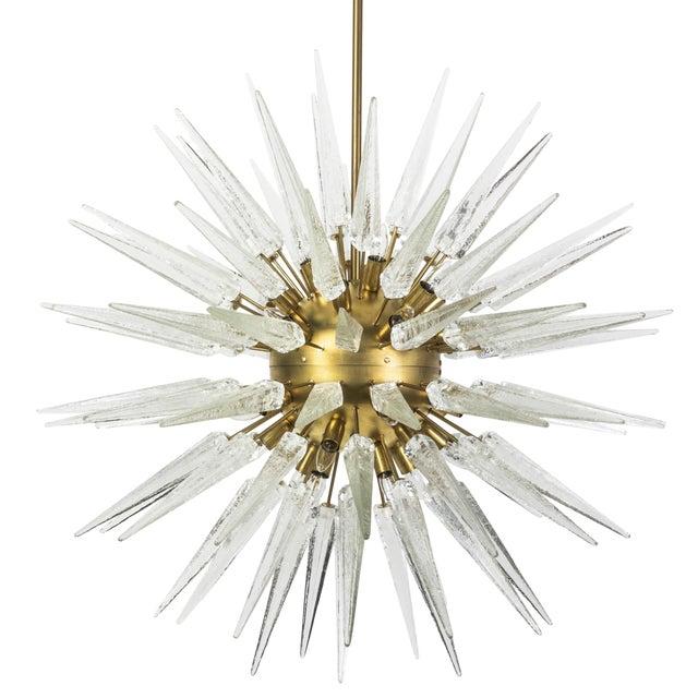 Sputnik Spike Chandelier with Murano Glass For Sale