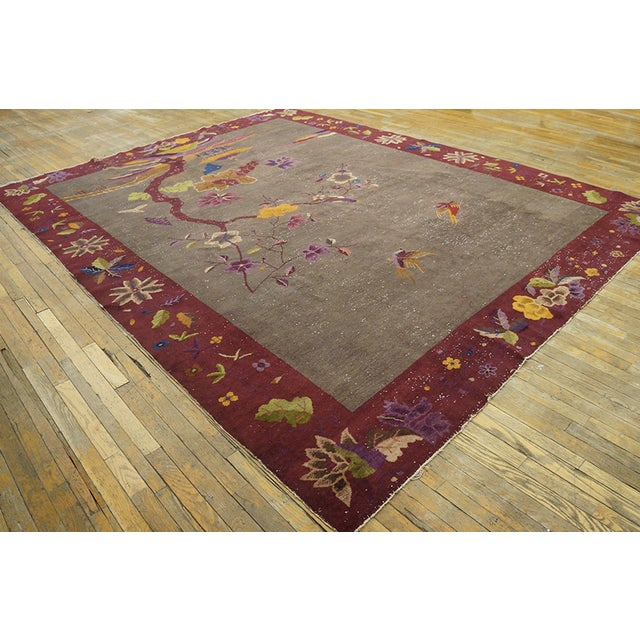 """Art Deco Antique Chinese Art Deco Rug 8'10""""x11'6"""" For Sale - Image 3 of 13"""