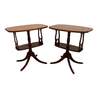 Pair of Antique Mahogany Side Tables For Sale
