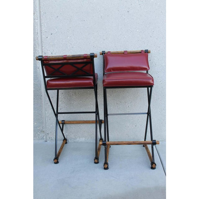 Mid-Century Modern Cleo Baldon Style Bar Stools-a Pair For Sale - Image 3 of 9
