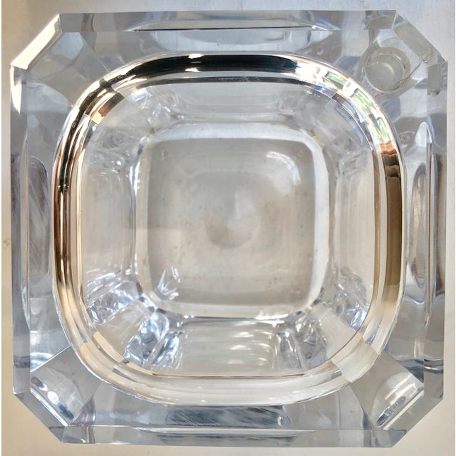 Italian Alessandro Fabrizzi Lucite Ice Bucket For Sale - Image 3 of 10