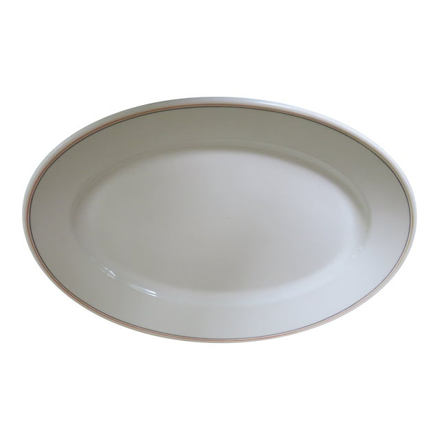 19th Century Traditional Maddock's China Trenton Ironstone Large Oval Platter For Sale