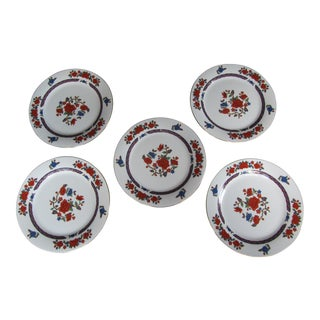 Vintage Imari Crown Ming Dinner Plates - 5 Pieces For Sale